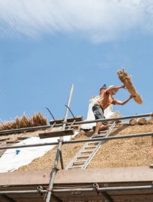 how to thatch a roof